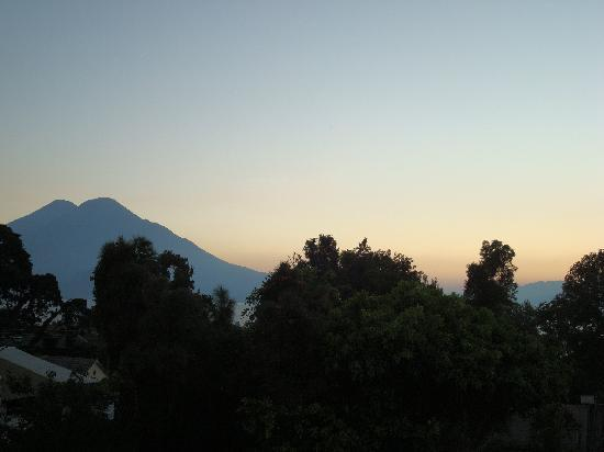Posada de los Volcanes: view from balcony