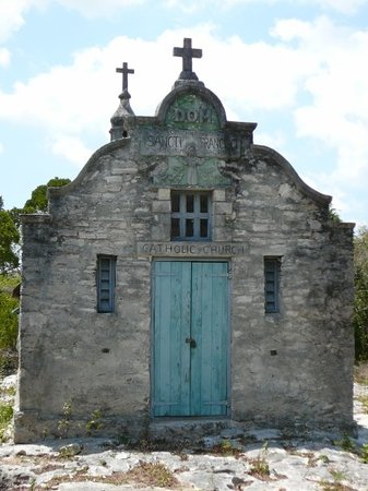 Cat Island: This is the older of the two catholic churches next to each other.