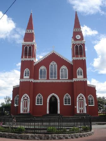 Metal Church in Grecia, Costa Rica - Iglesia de la Nuestra Señora de las Mercedes