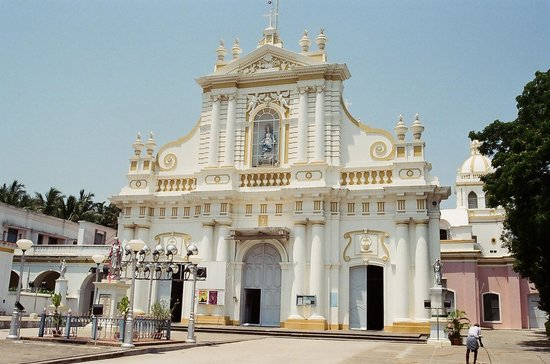 Pondichry, Inde : Immaculate Conception Cathedral-Pondicherry 