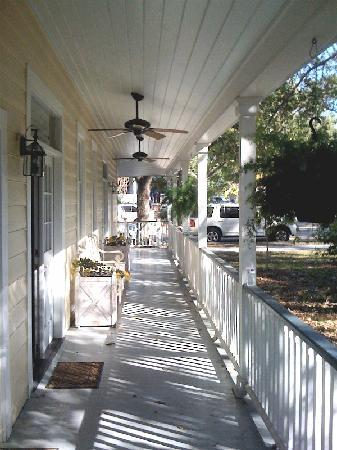 Ocean Springs, MS: Porch under canopy of 100 year old Oaks
