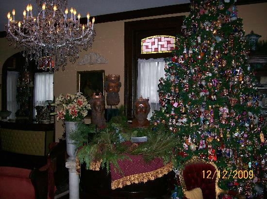 Brunswick Manor: The 1000 Christopher Radko Christmas Tree in the Main Parlor