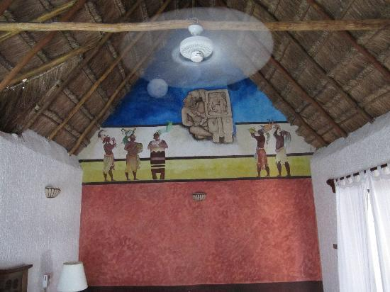 Room 31 Mural And Thatched Roof Picture Of Na Balam