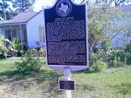 Port Arthur, TX: her marker