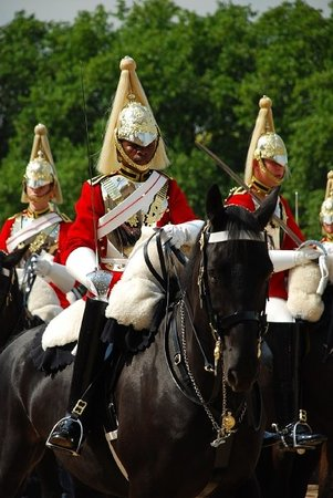 Horse Guards Parade At Whitehall London England Hours