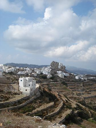 Amorgos, Yunanistan: Hora on top of the island