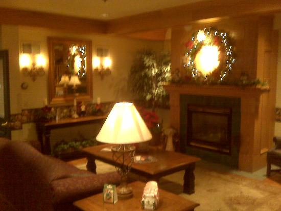 Country Inn & Suites By Carlson, Dundee: Cozy lobby decorated for the holidays...