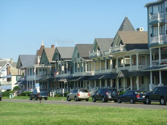 Victorian style homes along Ocean Grove streets