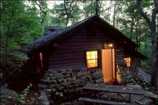 I am thinking about my home state arkansas picture of Devils fork state park cabin rentals