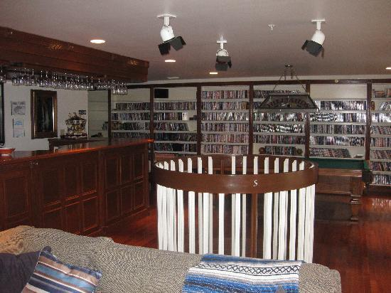 The Inn at Mountain Quest: The bar and DVD collection