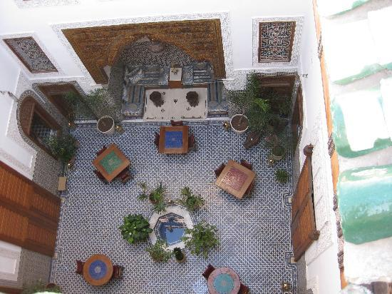 Dar Roumana: The Courtyard from above