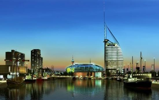 Bremerhaven in the evening