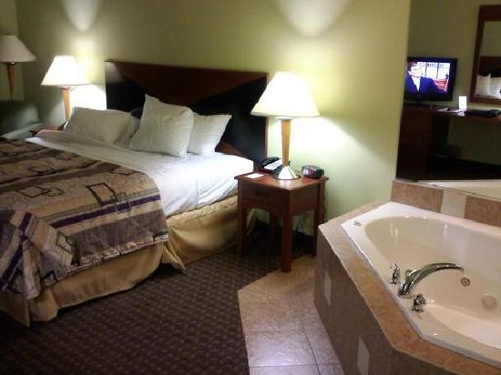 clean bathroom (small tub but room had jacuzzi) - Picture ...