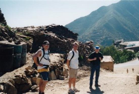 Me, my deputy (Tom Heskin, Irish Army) and CPT Thad, USAF, on a mountain hike outide Asmara