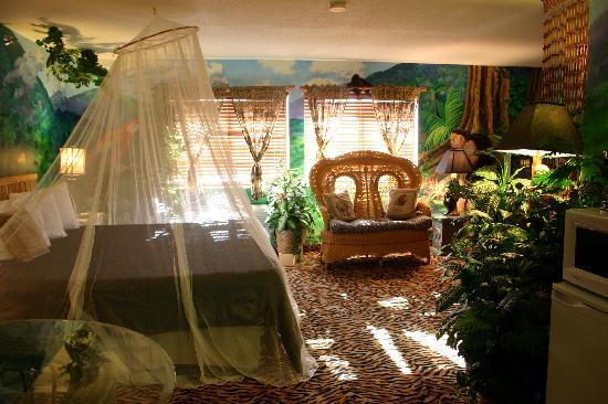 Settle inn jungles themed bedrooms dream room suites for Jungle living room ideas