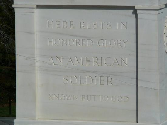 HERE RESTS IN HONORED GLORYAN AMERICAN SOLDIER KNOWN BUT TO GOD