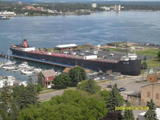 Sault Ste. Marie, MI: the Valley Camp from the tower, pretty effin big