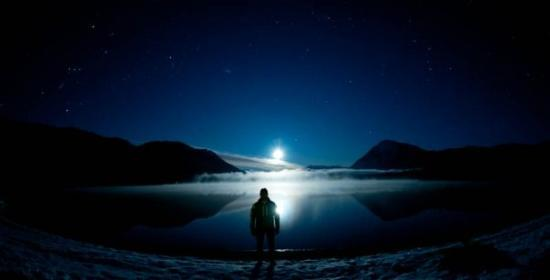 Lake Wenatchee Moonset, Leavenworth, WA, United States