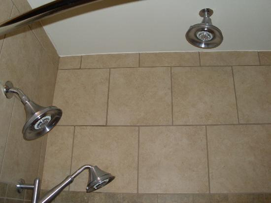 Holiday Inn Express Hotel & Suites Newport South: our 3headed shower