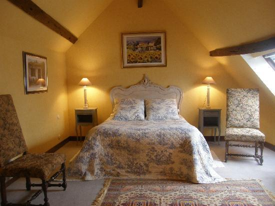 Chambre jaune picture of le boullay thierry eure et loir tripadvisor for Photo chambre adulte