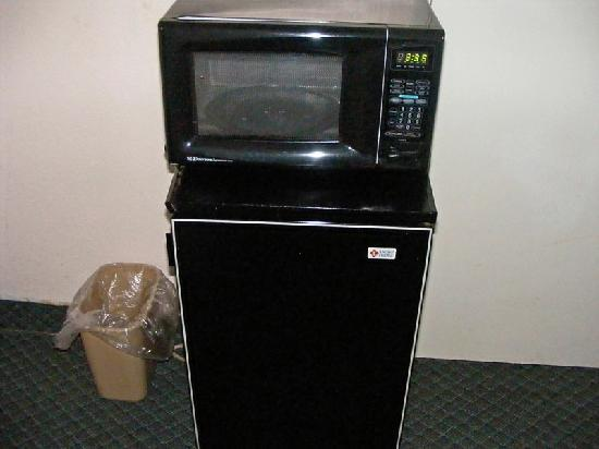 Fort Lauderdale Beach Palace Hotel &amp; Suites: Microwave and mini fridge