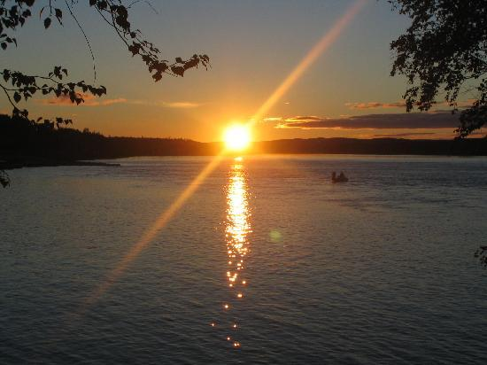 Your breathtaking view from the Waterfront Lodge in Stony Rapids