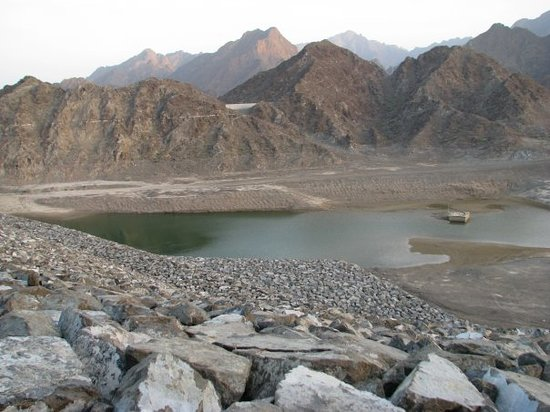 Hatta, United Arab Emirates: Thats how much water there was in the Dam.