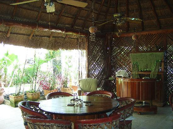 Hacienda San Pedro Nohpat: inside the palapa