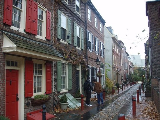 Philadelphie, Pennsylvanie : the first street in Phillie