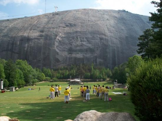 Picture of stone mountain carving
