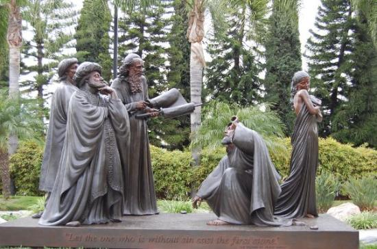 """""""Let he who is without sin cast the first stone."""" The Crystal Cathedral, Garden Grove, CA"""