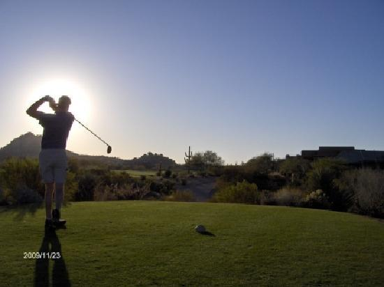 Meridian CondoResorts: End of 36-hole day at Troon North...