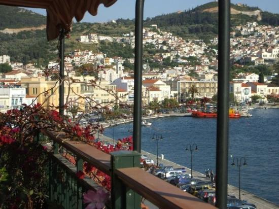 Samos Town, Greece View from Aeolis Hotel - Picture of ...