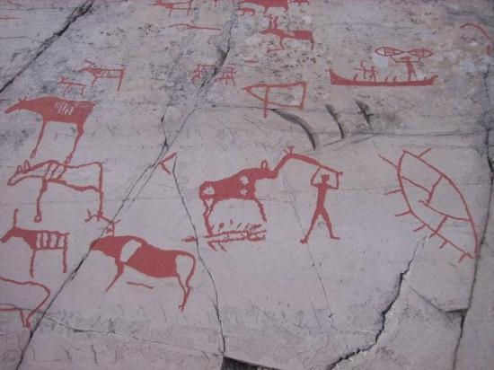 Rock carvings at alta