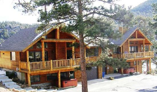 Rocky Mountain Views: Front of Cabin