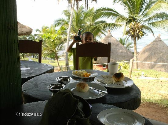 Axim, Ghana: the restaurant