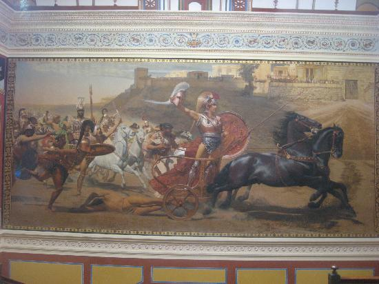 Gastouri, Greece: the painting of Achilles