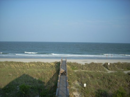 Garden City Beach,  : Our own private walkway