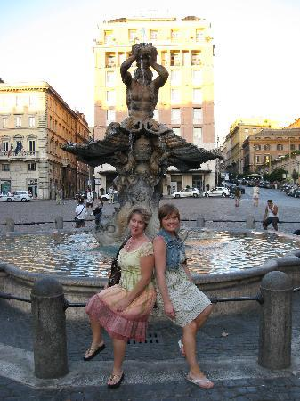 Domus Betti: Me and my daughter in front of one of the many Fountains