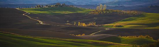 Pienza, : Moring view from Cretaiole