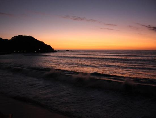 Sunset on the beach at Barra de Navidad