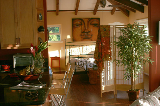 "Hale 'Nalo Beach Rentals: ""ZEN Treehouse"", our luxury apartment. The reviews speak for themselves."
