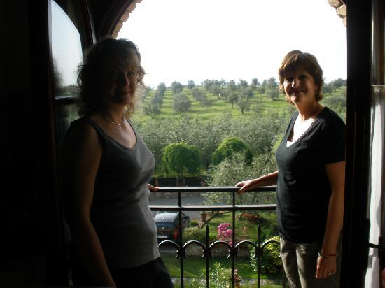 Montespertoli, Italia: view from the living/dining room
