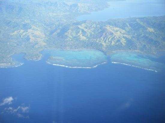 塔韦乌尼岛照片:blue water.; taveuni island photo: blue water.;
