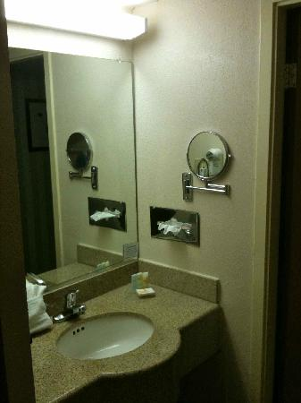 Quality Inn &amp; Suites: Bathroom sink area