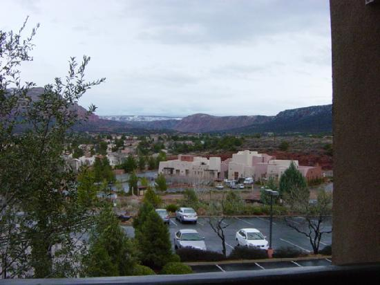 view from bedroom picture of hilton sedona resort at. Black Bedroom Furniture Sets. Home Design Ideas
