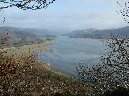 Barmouth, UK: Looking up the estuary from the Panoramic Walk