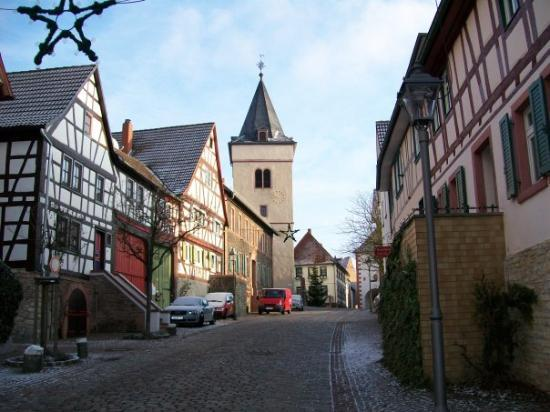 Maintal, Germany: Hochstadt Germany  when I got here. This is from the house looking right toward the chapel and y