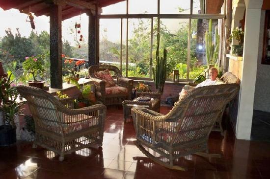 The Golden Frog Inn: The porch - stunning sunsets, wine, conversation