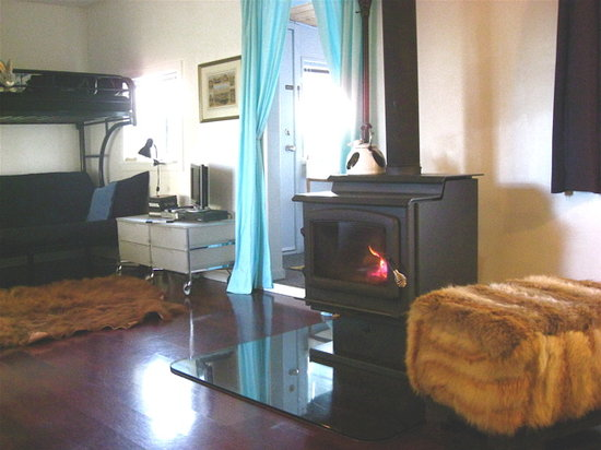 "Norton North Ranch Cottages: Cozy up woodstove in ""Little Muddy"""